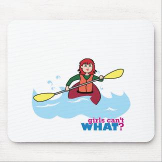 Menina Kayaking - luz/vermelho Mouse Pad