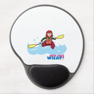 Menina Kayaking - luz/vermelho Mouse Pad De Gel