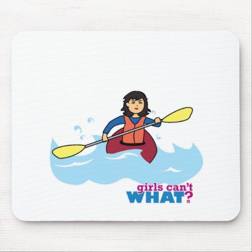 Menina Kayaking - meio Mousepad