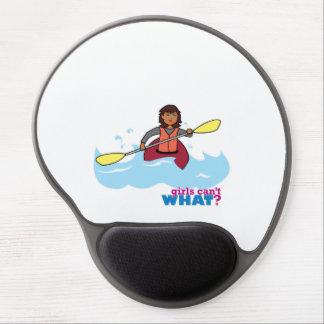 Menina Kayaking Mouse Pad De Gel