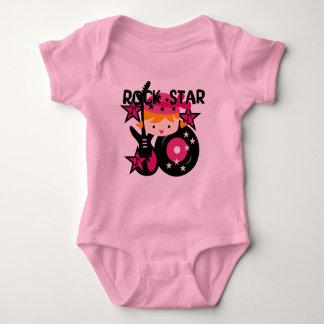 Menina loura da estrela do rock camisetas