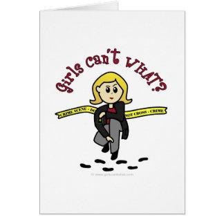 Menina loura de CSI Cartão Comemorativo