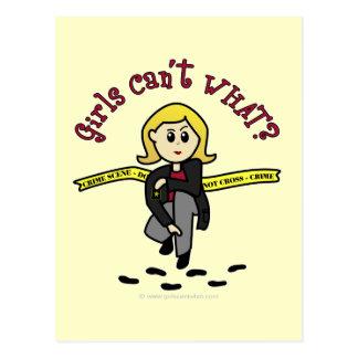 Menina loura de CSI Cartão Postal