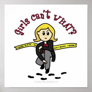 Menina loura de CSI Poster
