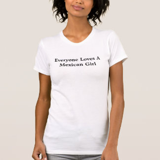 Menina mexicana camisetas