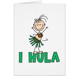 Menina mim cartão de Hula