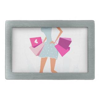 Menina modelo loura com pontos e rosa