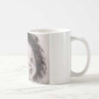 menina original da arte da caneca de café