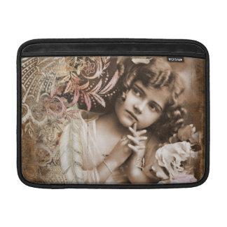 Menina pequena bonito do vintage bolsa de MacBook
