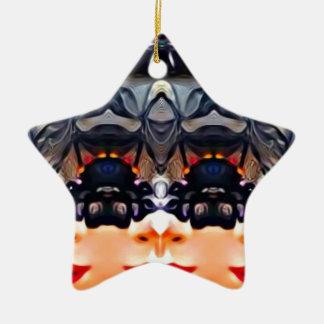 Menina psicadélico ornamento de cerâmica