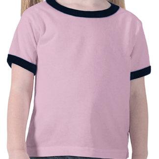Menina que funciona no vermelho t-shirt