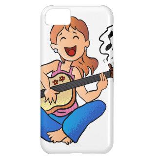 menina que joga a guitarra capa para iPhone 5C