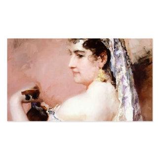 Menina romana por Mary Cassatt Modelos Cartoes De Visitas
