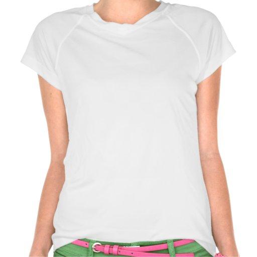 menina, rosa & verde do corredor camiseta