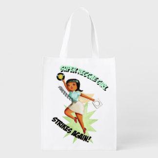 Menina super da reggae sacolas reusáveis