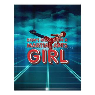 Menina SUPERIOR das artes marciais Panfleto Personalizados