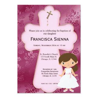 Menina transversal do comunhão santamente convites
