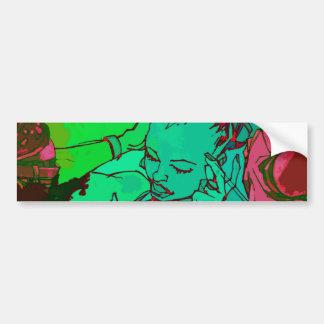 Menina verde dos grafites adesivos