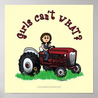 Menina vermelha clara do fazendeiro poster