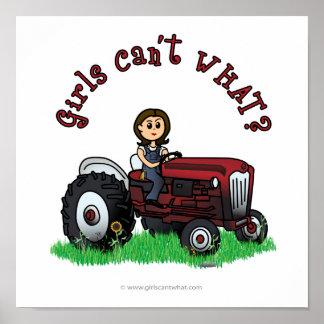 Menina vermelha clara do fazendeiro posters