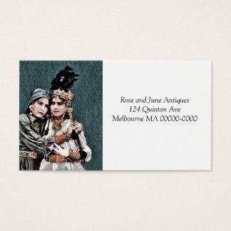 Meninas aciganadas argelinos cartão de visitas