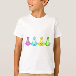 Meninas da ioga camiseta