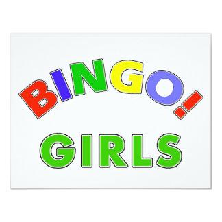Meninas do Bingo Convite 10.79 X 13.97cm