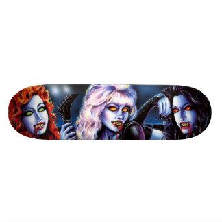 Meninas do metal do vampiro shape de skate 21,6cm