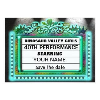 Meninas do vale do dinossauro convite 12.7 x 17.78cm