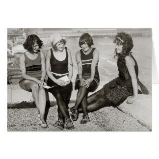 Meninas em Atlantic City Praia, 1922 Cartão Comemorativo