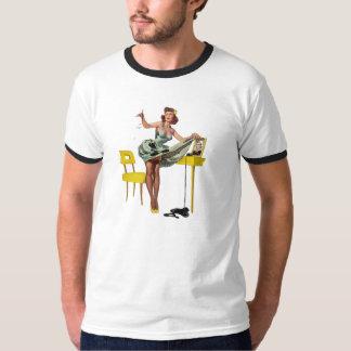 MENINAS MÁS Pin-UPS retro da NOTÍCIA BOMBÁSTICA T-shirts