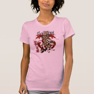 Meninas Muay-Tailandesas do dragão Tshirts