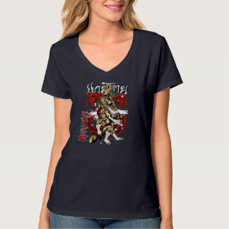 Meninas Muay-Tailandesas do dragão Camisetas