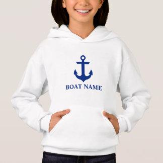 Meninas náuticas da âncora do nome do barco
