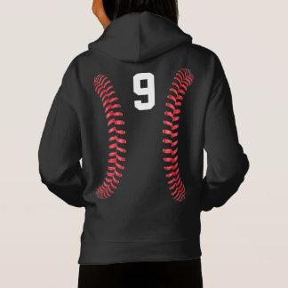 Meninas pretas & camisola branca do softball de