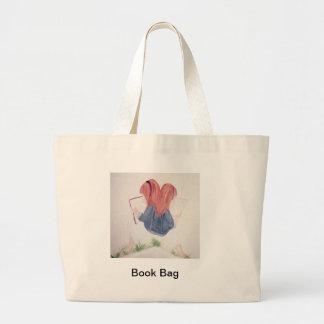 meninas que lêem a sacola sacola tote jumbo