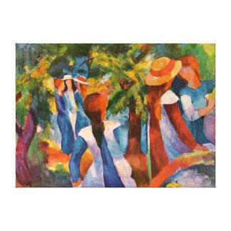Meninas sob as árvores August Macke Impressão Em Tela