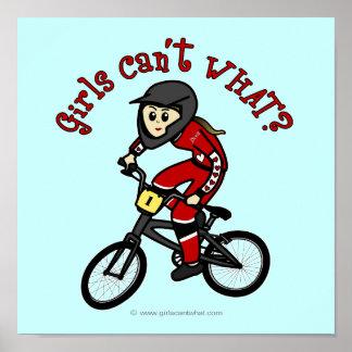 Meninas vermelhas claras BMX Poster