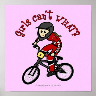 Meninas vermelhas claras BMX Impressão