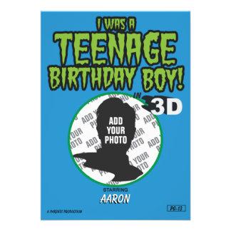 Menino adolescente do aniversário
