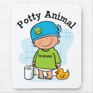 Menino animal Mousepad do Potty