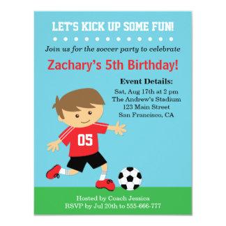 Menino bonito do futebol, festa de aniversário convites personalizado