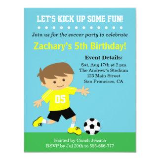 Menino bonito do futebol, festa de aniversário convite personalizados