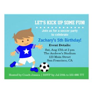 Menino bonito do futebol festa de aniversário tem convite personalizado
