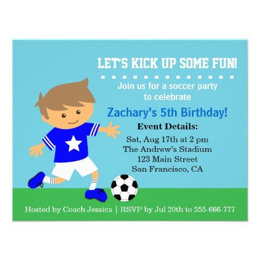 Menino bonito do futebol, festa de aniversário tem convite personalizado