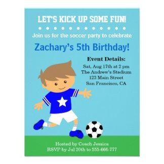 Menino bonito do futebol, festa de aniversário tem convite personalizados