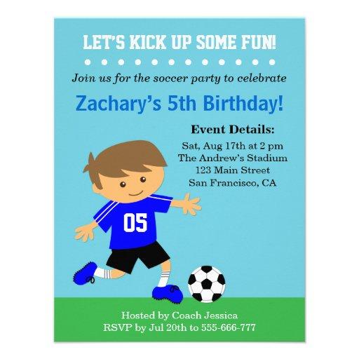 Menino bonito do futebol, festa de aniversário tem convites