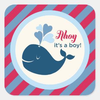 Menino da baleia da etiqueta | do favor do chá de