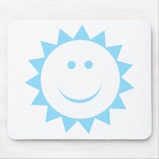 Menino da luz do sol do bebê mouse pads