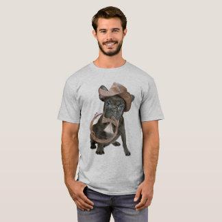 Menino de país do buldogue francês camiseta